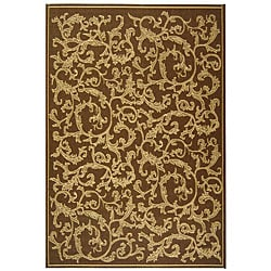 Indoor/ Outdoor Mayaguana Brown/ Natural Rug (5'3 x 7'7)