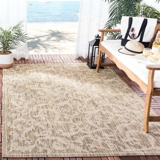 Safavieh Indoor/ Outdoor Mayaguana Brown/ Natural Rug (5'3 x 7'7)