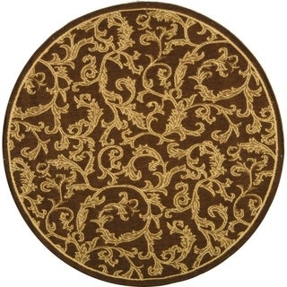Indoor/ Outdoor Mayaguana Brown/ Natural Rug (5'3 Round)