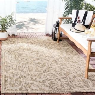 Safavieh Indoor/ Outdoor Mayaguana Brown/ Natural Rug (6'7 x 9'6)