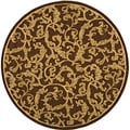 Indoor/ Outdoor Mayaguana Brown/ Natural Rug (6' 7 Round)