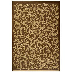 Indoor/ Outdoor Mayaguana Brown/ Natural Rug (7'10 x 11')