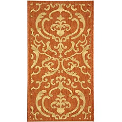 Indoor/ Outdoor Bimini Terracotta/ Natural Rug (2' x 3'7)