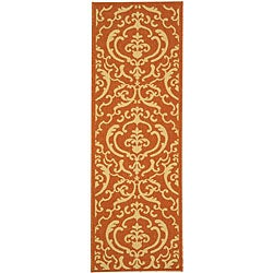 Safavieh Indoor/ Outdoor Bimini Terracotta/ Natural Runner (2'4 x 6'7)
