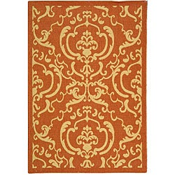 Safavieh Indoor/ Outdoor Bimini Terracotta/ Natural Rug (2'7 x 5')
