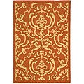 Indoor/ Outdoor Bimini Terracotta/ Natural Rug (4' x 5'7)