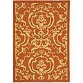 Safavieh Indoor/ Outdoor Bimini Terracotta/ Natural Rug (4' x 5'7)