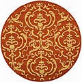 Indoor/ Outdoor Bimini Terracotta/ Natural Rug (5'3 Round)