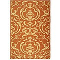 Safavieh Indoor/ Outdoor Bimini Terracotta/ Natural Rug (7'10 x 11')