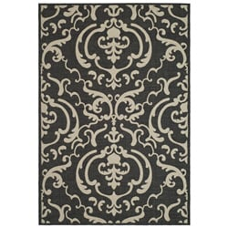 Safavieh Indoor/ Outdoor Bimini Black/ Sand Rug (2' x 3'7)