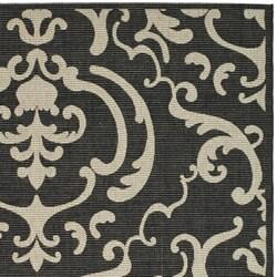Indoor/ Outdoor Bimini Black/ Sand Rug (5'3 x 7'7)