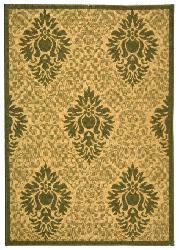 Safavieh Indoor/ Outdoor St. Barts Natural/ Olive Rug (4' x 5'7)