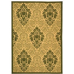 Safavieh Indoor/ Outdoor St. Barts Natural/ Olive Rug (4' x 5'7)