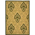 Indoor/ Outdoor St. Barts Natural/ Olive Rug (4' x 5'7)