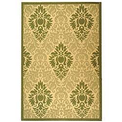Indoor/ Outdoor St. Barts Natural/ Olive Rug (7'10' x 11')