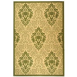 Safavieh Indoor/ Outdoor St. Barts Natural/ Olive Rug (7'10' x 11')