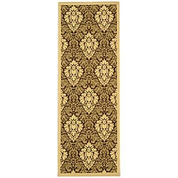 Safavieh Indoor/ Outdoor St. Barts Brown/ Natural Runner (2'4 x 6'7)