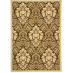 Safavieh Indoor/ Outdoor St. Barts Brown/ Natural Rug (4' x 5'7)