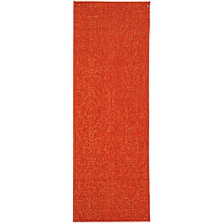 Safavieh Indoor/ Outdoor St. Barts Red Runner (2'4 x 6'7)