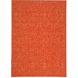Indoor/ Outdoor St. Barts Red Rug (4' x 5'7)