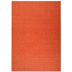 Indoor/ Outdoor St. Barts Red Rug (6'7 x 9'6)