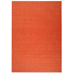 Indoor/ Outdoor St. Barts Red Rug (7'10' x 11')