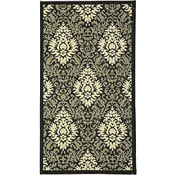 Safavieh Indoor/ Outdoor St. Barts Black/ Sand Rug (2' x 3'7)