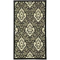 Indoor/ Outdoor St. Barts Black/ Sand Rug (2' x 3'7)