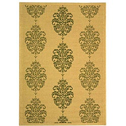 Indoor/ Outdoor St. Martin Natural/ Olive Rug (7'10 x 11')