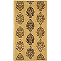 Indoor/ Outdoor St. Martin Natural/ Brown Rug (2' x 3'7)