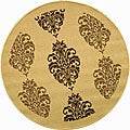 Safavieh Indoor/ Outdoor St. Martin Natural/ Brown Rug (5'3 Round)