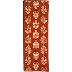 Indoor/ Outdoor St. Martin Red/ Natural Runner (2'4 x 6'7)
