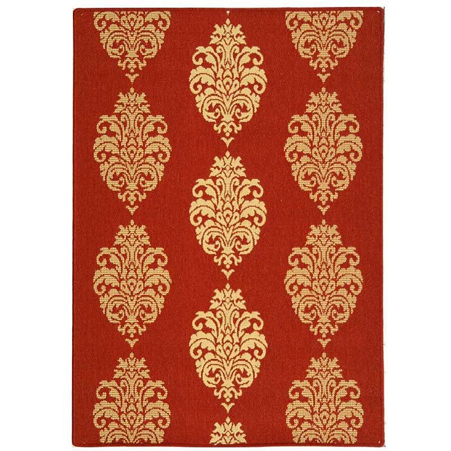 Safavieh Indoor/ Outdoor St. Martin Red/ Natural Rug (7'10 x 11')