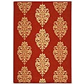 Indoor/ Outdoor St. Martin Red/ Natural Rug (7'10 x 11')