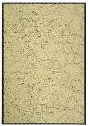 Safavieh Indoor/ Outdoor Aruba Sand/ Black Rug (7'10 x 11')