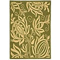 Indoor/ Outdoor Andros Olive/ Natural Rug (2'7 x 5')