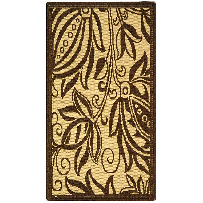 Safavieh Indoor/ Outdoor Andros Natural/ Brown Rug (2' x 3'7)