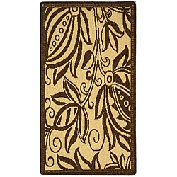 Safavieh Indoor/ Outdoor Andros Natural/ Brown Rug (2' x 3'7)