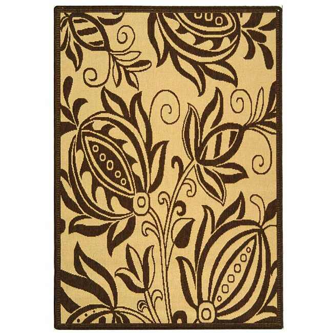 Safavieh Indoor/ Outdoor Andros Natural/ Brown Rug (2'7 x 5')