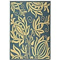 Indoor/ Outdoor Andros Blue/ Natural Rug (5'3 x 7'7)