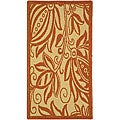 Indoor/ Outdoor Andros Natural/ Terracotta Rug (2' x 3'7)