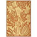 Indoor/ Outdoor Andros Natural/ Terracotta Rug (7'10 x 11')
