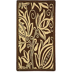 Safavieh Indoor/ Outdoor Andros Chocolate/ Natural Rug (2' x 3'7)