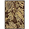 Indoor/ Outdoor Andros Chocolate/ Natural Rug (2'7 x 5')