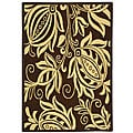 Safavieh Indoor/ Outdoor Andros Chocolate/ Natural Rug (4' x 5'7)