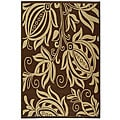 Safavieh Indoor/ Outdoor Andros Chocolate/ Natural Rug (6'7 x 9'6)