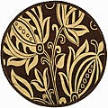 Indoor/ Outdoor Andros Chocolate/ Natural Rug (6'7 Round)