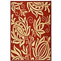 Indoor/ Outdoor Andros Red/ Natural Rug (7'10 x 11')