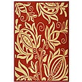 Safavieh Indoor/ Outdoor Andros Red/ Natural Rug (7'10 x 11')