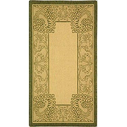 Indoor/ Outdoor Abaco Natural/ Olive Rug (2' x 3'7)